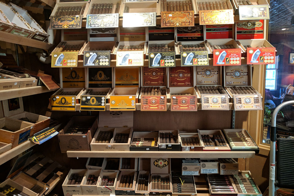 Iron Horse Cigar Depot walk-in humidor
