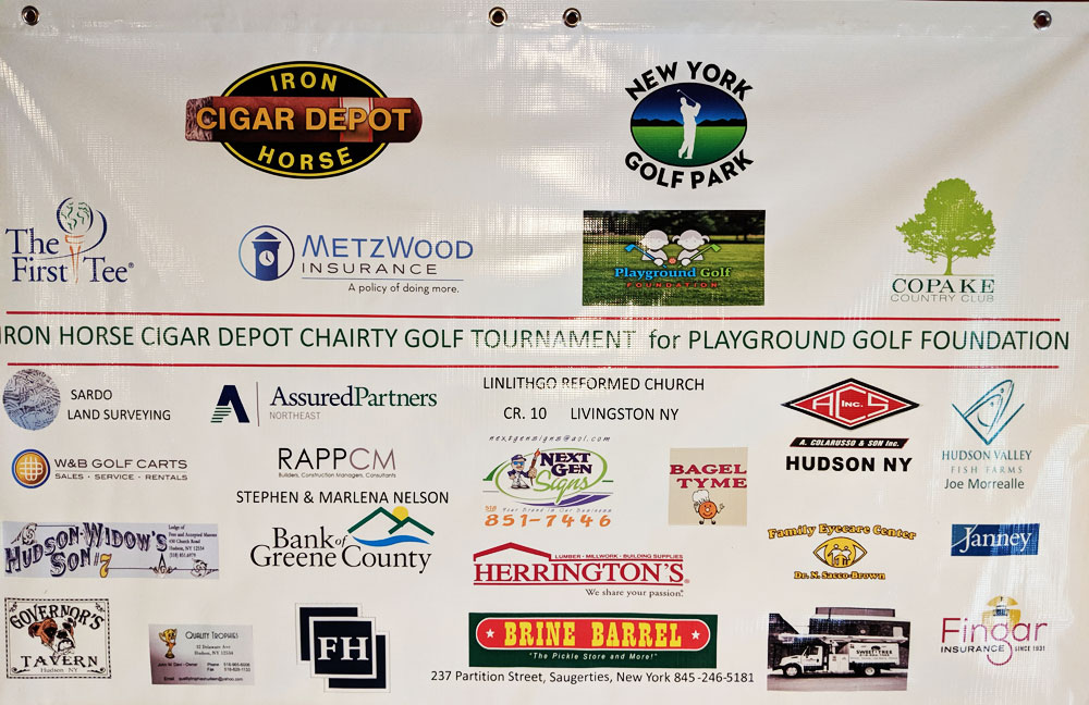 Banner with business sponsor logos